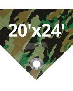 Camouflage Tarps 20' x 24'