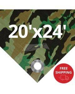 Camouflage Tarps 20' x 24' - Case of 4