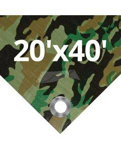 Camouflage Tarps 20' x 40'