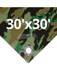 Camouflage Tarps 30' x 30'