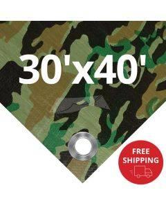 Camouflage Tarps 30' x 40'