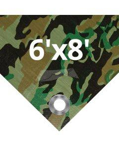 Camouflage Tarps 6' x 8'