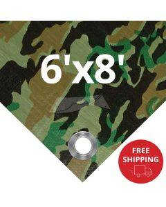 Camouflage Tarps 6' x 8' - Case of 40