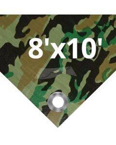 Camouflage Tarps 8' x 10'