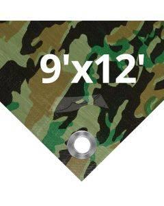 Camouflage Tarps 9' x 12'