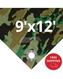 Camouflage Tarps 9' x 12' - Case of 20