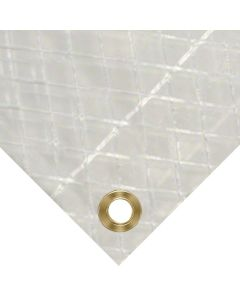 Clear String Reinforced Poly Tarp - 7 Oz 10 Mil 8' X 10'