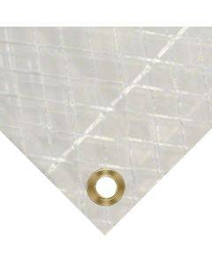 Clear String Reinforced Poly Tarp - 7 Oz 10 Mil 8' X 8'