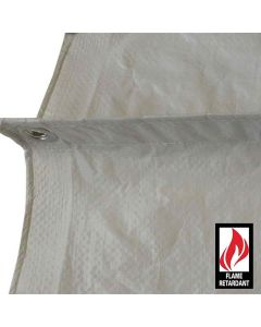White Fire Retardant Tarps 15 x 20