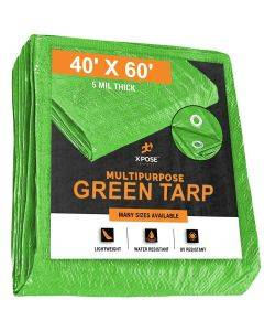 Green Poly Tarps 40' x 60'