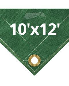 Green Canvas Tarps 10 x 12