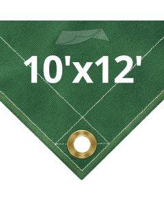 10 oz Green Canvas Tarps 10' x 12'