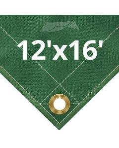 10 oz Green Canvas Tarps 12' x 16'