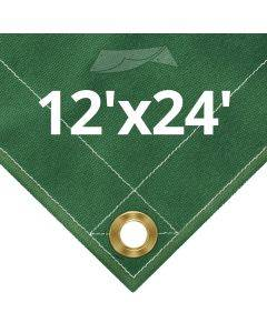 10 oz Green Canvas Tarps 12' x 24'