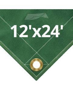 10 oz Green Canvas Tarps 12' x 24'