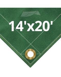 Green Canvas Tarps 14 x 20
