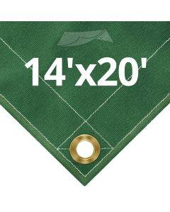 10 oz Green Canvas Tarps 14' x 20'