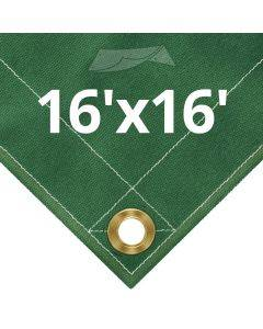 10 oz Green Canvas Tarps 16' x 16'