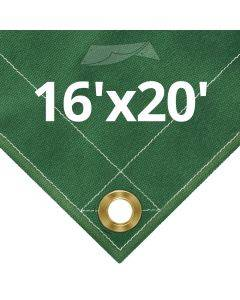 10 oz Green Canvas Tarps 16' x 20'