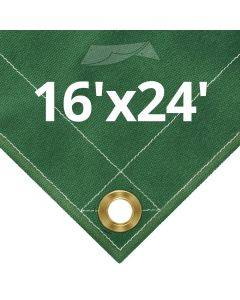 10 oz Green Canvas Tarps 16' x 24'