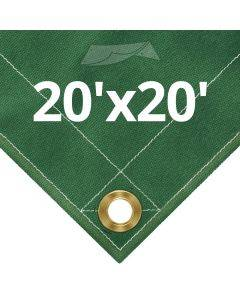 10 oz Green Canvas Tarps 20' x 20'