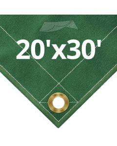 10 oz Green Canvas Tarps 20' x 30'