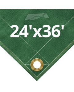 Green Canvas Tarps 24 x 36