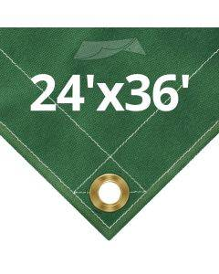 10 oz Green Canvas Tarps 24' x 36'