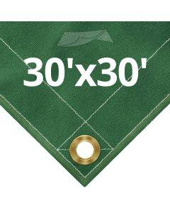 10 oz Green Canvas Tarps 30' x 30'