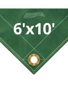 10 oz Green Canvas Tarps 6' x 10'