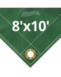 10 oz Green Canvas Tarps 8' x 10'