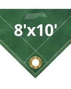 10 oz Green Canvas Tarps 8' x 10'