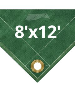 Green Canvas Tarps 8 x 12