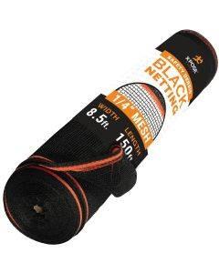 "1/4"" Heavy Duty Black Debris Fire retardant Safety Netting 8' 6"" x 150'"