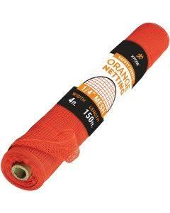 """1/4"""" Heavy Duty Orange Mesh Fire Retardant Safety Netting"""