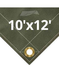 Olive Drab Canvas Tarps 10' x 12'