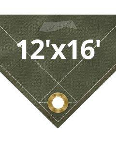 Olive Drab Canvas Tarps 12' x 16'