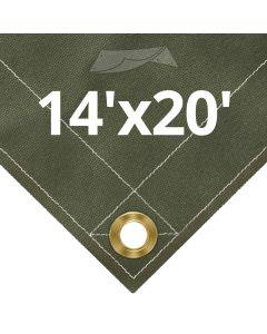 Olive Drab Canvas Tarps 14' x 20'