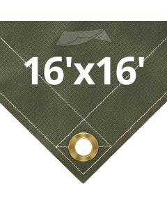 Olive Drab Canvas Tarps 16' x 16'