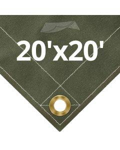 Olive Drab Canvas Tarps 20' x 20'