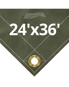 Olive Drab Canvas Tarps 24' x 36'