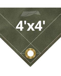 Olive Drab Canvas Tarps 4' x 4'