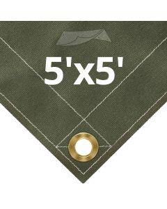 Olive Drab Canvas Tarps 5' x 5'