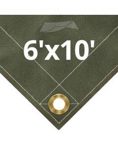 Olive Drab Canvas Tarps 6' x 10'