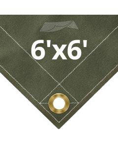 Olive Drab Canvas Tarps 6' x 6'