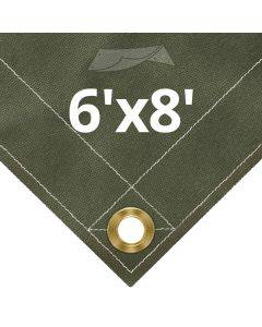 Olive Drab Canvas Tarps 6' x 8