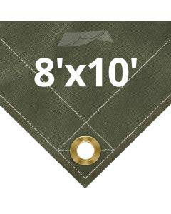 Olive Drab Canvas Tarps 8' x 10'