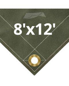 Olive Drab Canvas Tarps 8' x 12'