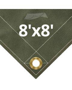 Olive Drab Canvas Tarps 8' x 8'