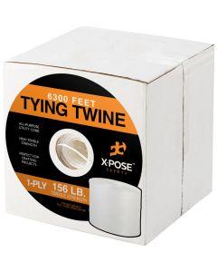 Polypropylene Twine - 1 Ply x 6300 Ft White Poly Twine